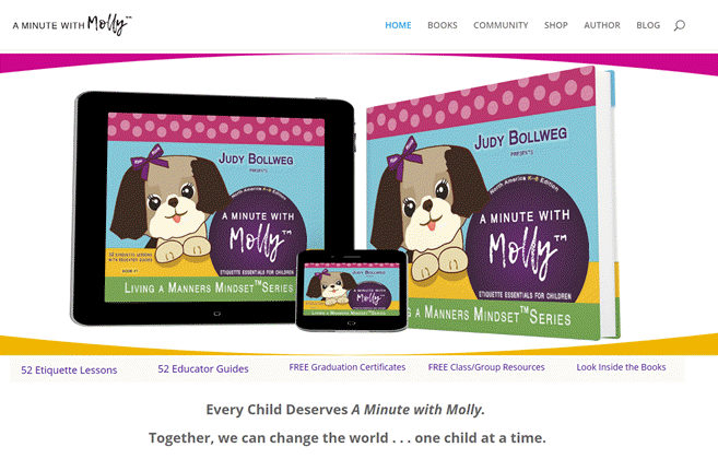 A Minute With Molly by Judy Bowllweg (Website by Innovo Publishing)
